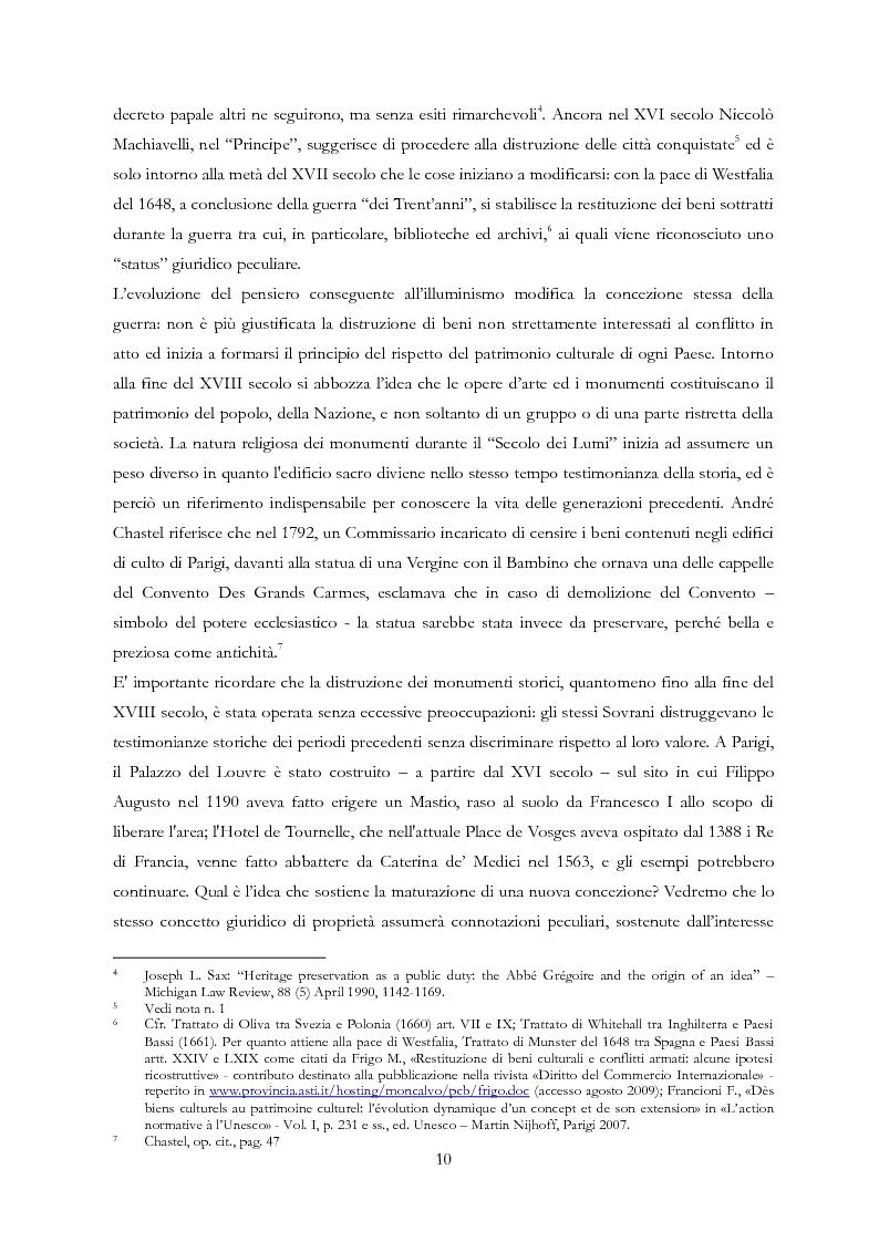Anteprima della tesi: Le Regioni e il patrimonio culturale nel diritto internazionale, europeo e nazionale. Casi di studio e comparazione tra Italia, Francia e Spagna, Pagina 10