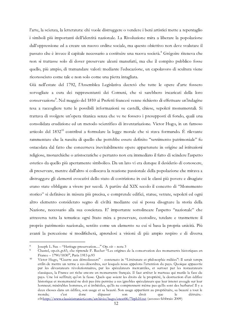 Anteprima della tesi: Le Regioni e il patrimonio culturale nel diritto internazionale, europeo e nazionale. Casi di studio e comparazione tra Italia, Francia e Spagna, Pagina 12