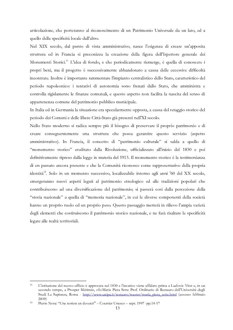 Anteprima della tesi: Le Regioni e il patrimonio culturale nel diritto internazionale, europeo e nazionale. Casi di studio e comparazione tra Italia, Francia e Spagna, Pagina 13