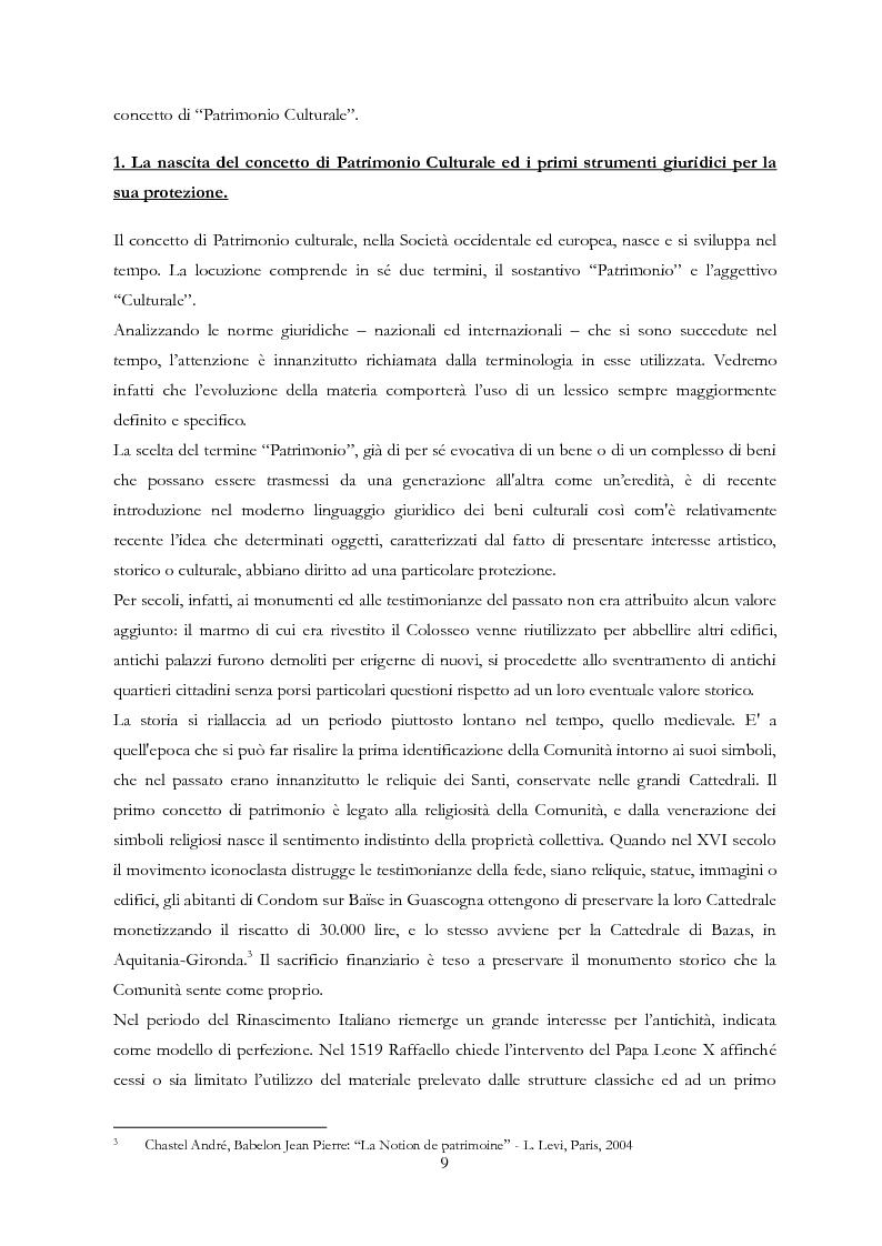 Anteprima della tesi: Le Regioni e il patrimonio culturale nel diritto internazionale, europeo e nazionale. Casi di studio e comparazione tra Italia, Francia e Spagna, Pagina 9