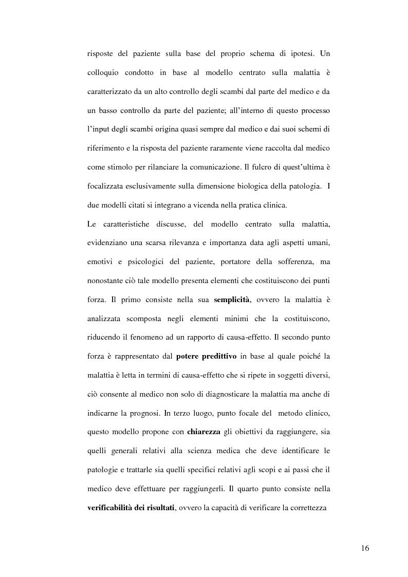 Anteprima della tesi: Modelli teorici e strumenti di analisi della relazione medico-paziente: una proposta di applicazione pratica., Pagina 13