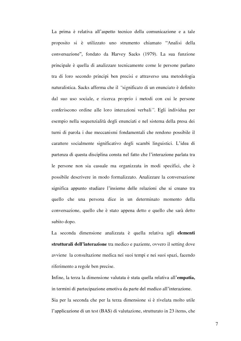 Anteprima della tesi: Modelli teorici e strumenti di analisi della relazione medico-paziente: una proposta di applicazione pratica., Pagina 4
