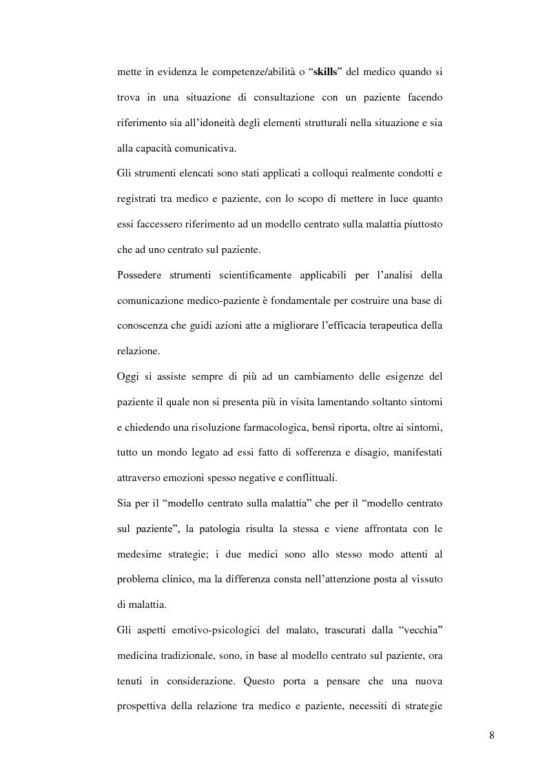 Anteprima della tesi: Modelli teorici e strumenti di analisi della relazione medico-paziente: una proposta di applicazione pratica., Pagina 5