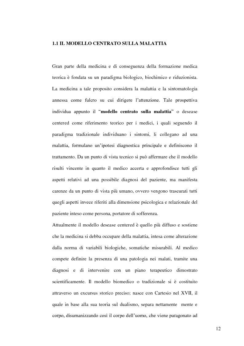 Anteprima della tesi: Modelli teorici e strumenti di analisi della relazione medico-paziente: una proposta di applicazione pratica., Pagina 9