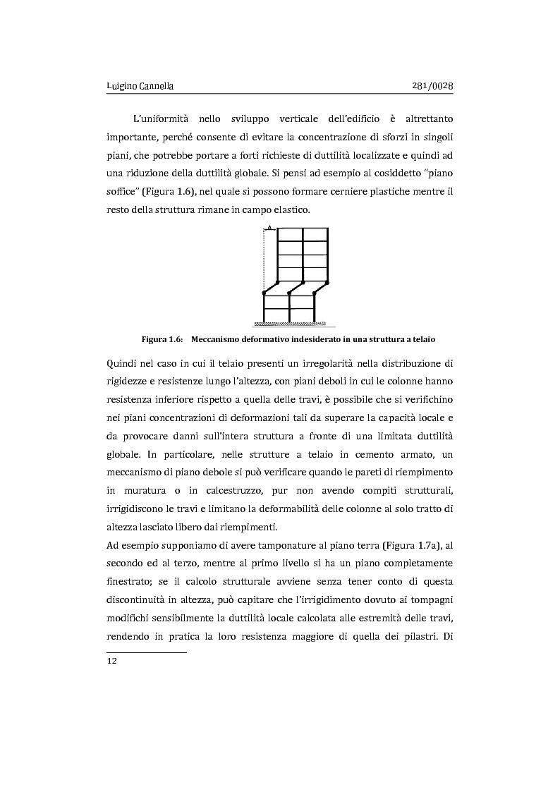Anteprima della tesi: Applicazione comparata di metodologie per l'analisi sismica di strutture esistenti in cemento armato, Pagina 13