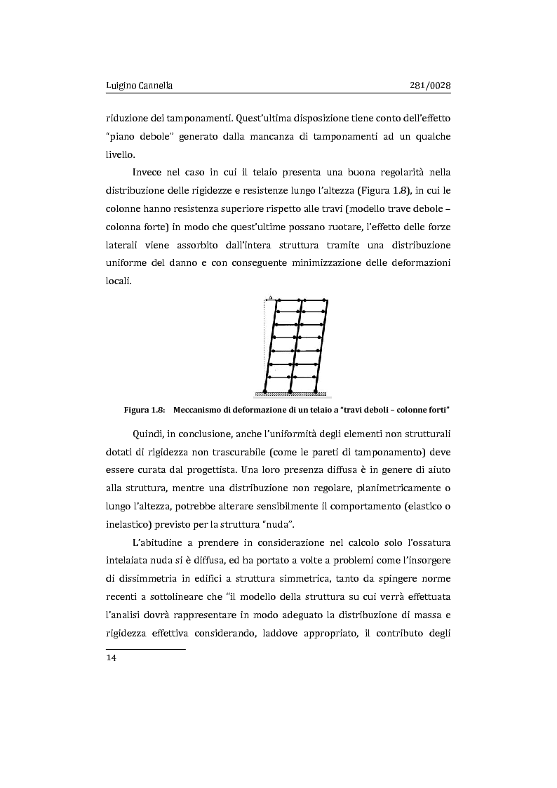 Anteprima della tesi: Applicazione comparata di metodologie per l'analisi sismica di strutture esistenti in cemento armato, Pagina 15