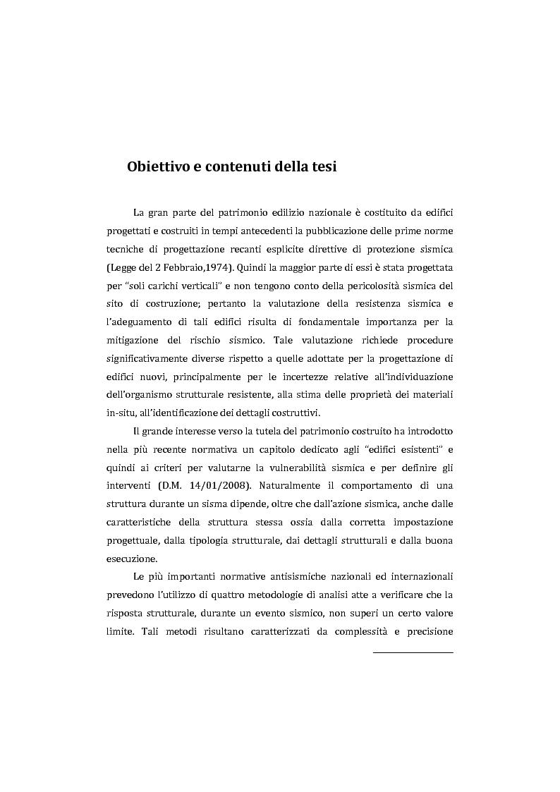 Anteprima della tesi: Applicazione comparata di metodologie per l'analisi sismica di strutture esistenti in cemento armato, Pagina 2