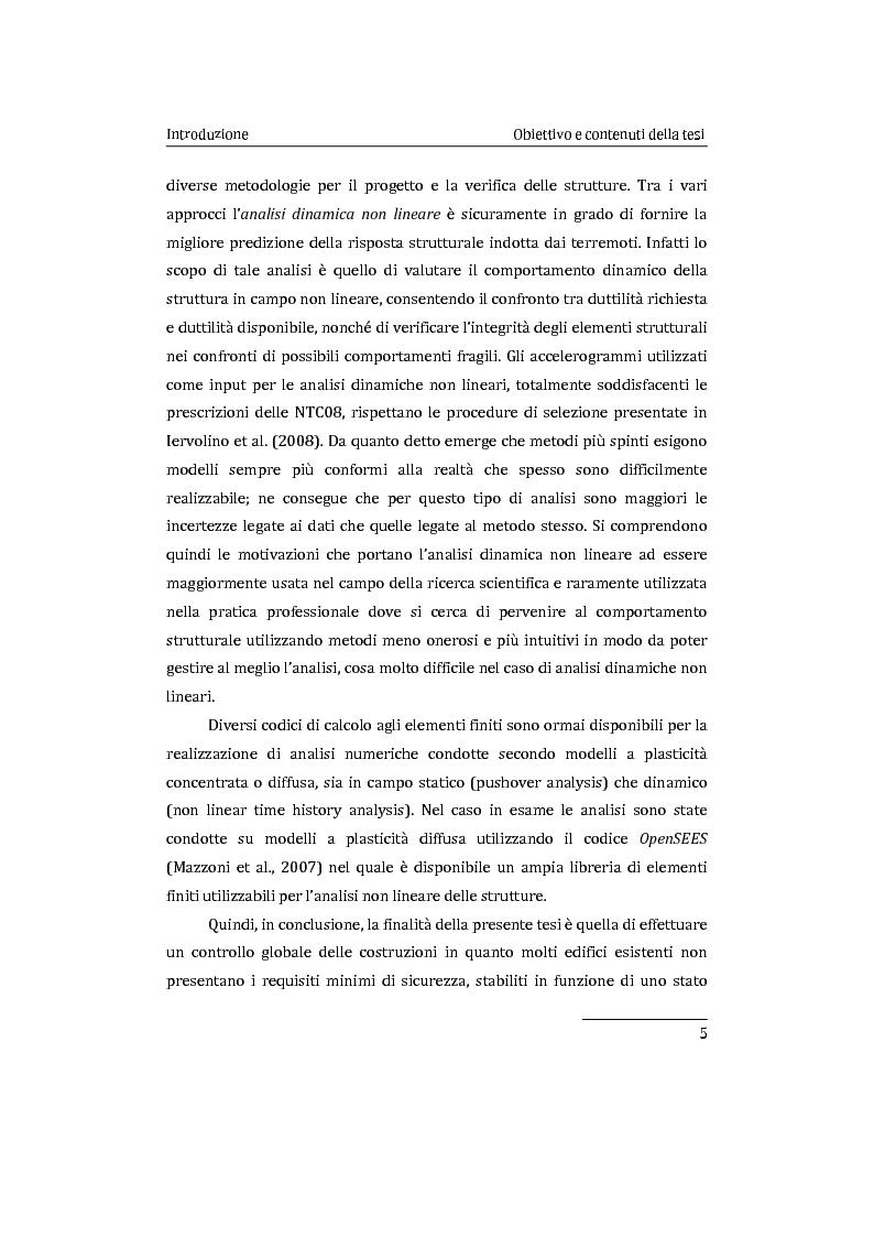 Anteprima della tesi: Applicazione comparata di metodologie per l'analisi sismica di strutture esistenti in cemento armato, Pagina 6