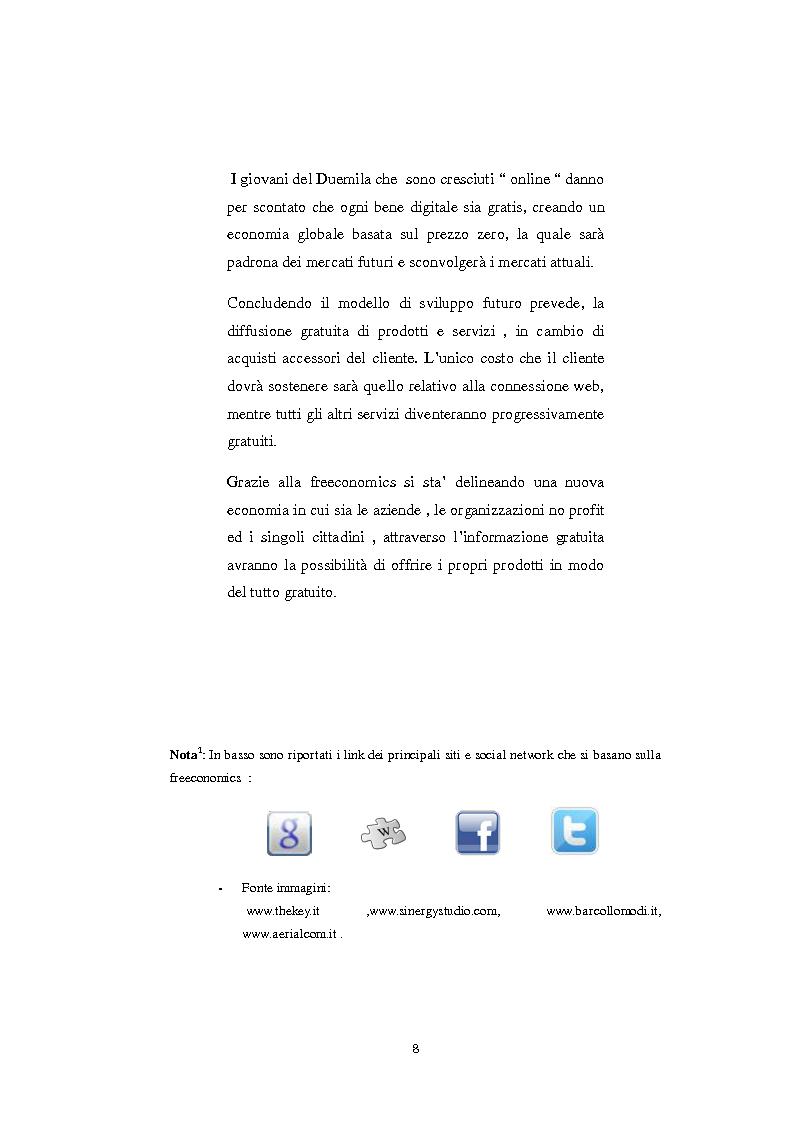Anteprima della tesi: Il nuovo fenomeno della Freeconomics e l'impatto sulle politiche di Marketing, Pagina 5