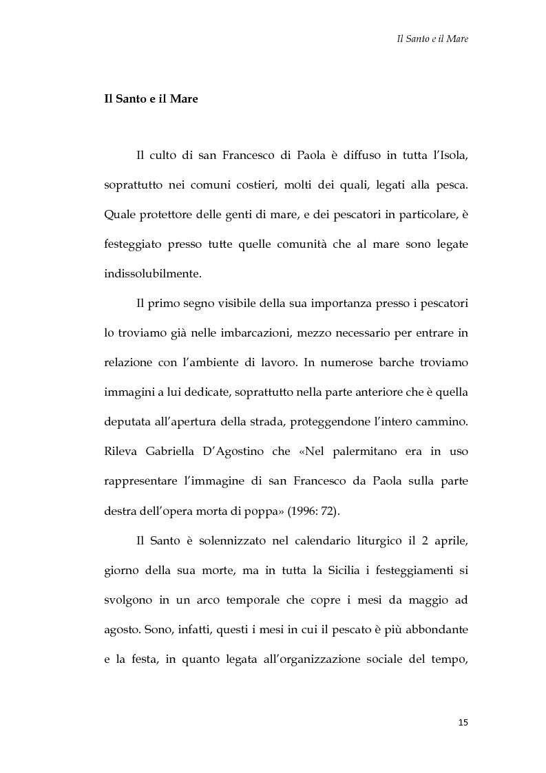Anteprima della tesi: U Santu Patri: San Francesco da Paola, il padre del mare, Pagina 11