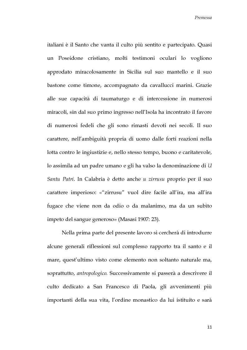 Anteprima della tesi: U Santu Patri: San Francesco da Paola, il padre del mare, Pagina 7