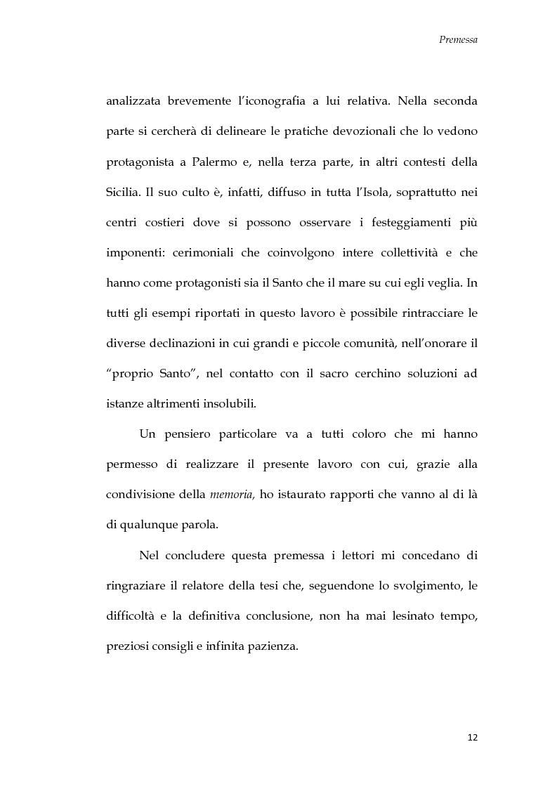 Anteprima della tesi: U Santu Patri: San Francesco da Paola, il padre del mare, Pagina 8