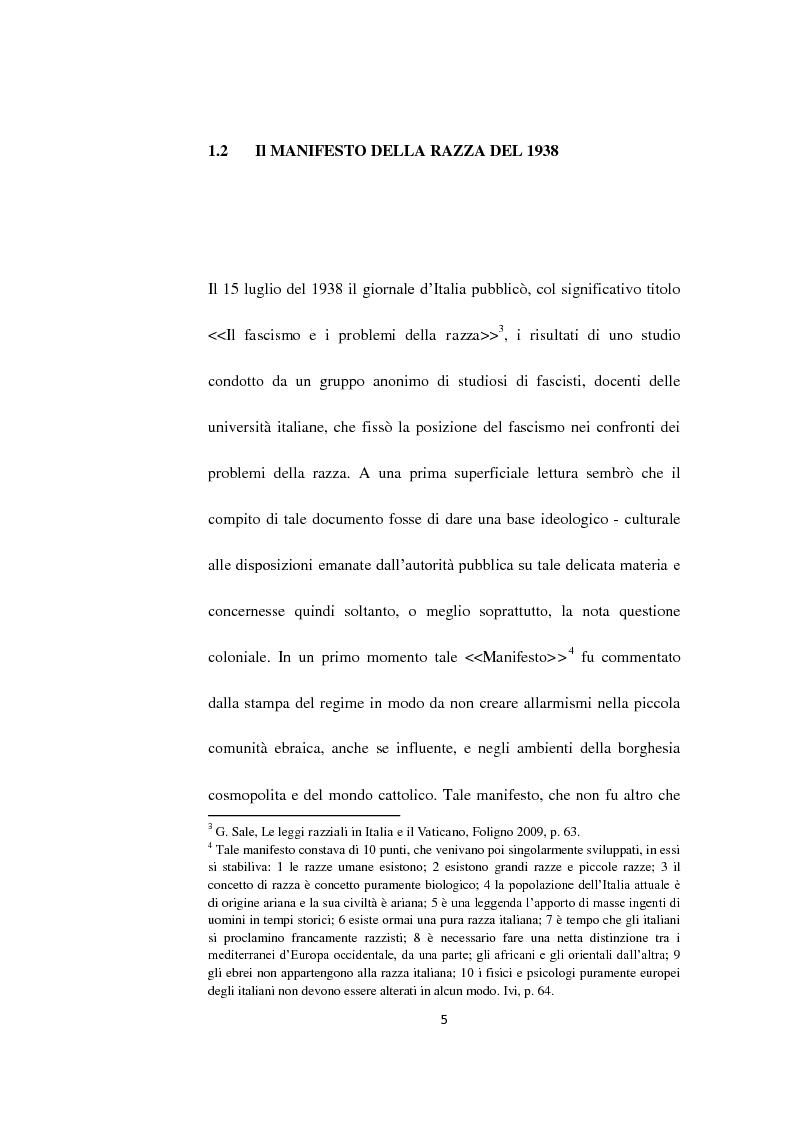 Anteprima della tesi: Il Questore Giovanni Palatucci e le leggi razziali, Pagina 3