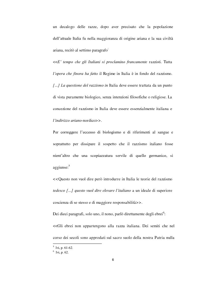 Anteprima della tesi: Il Questore Giovanni Palatucci e le leggi razziali, Pagina 4