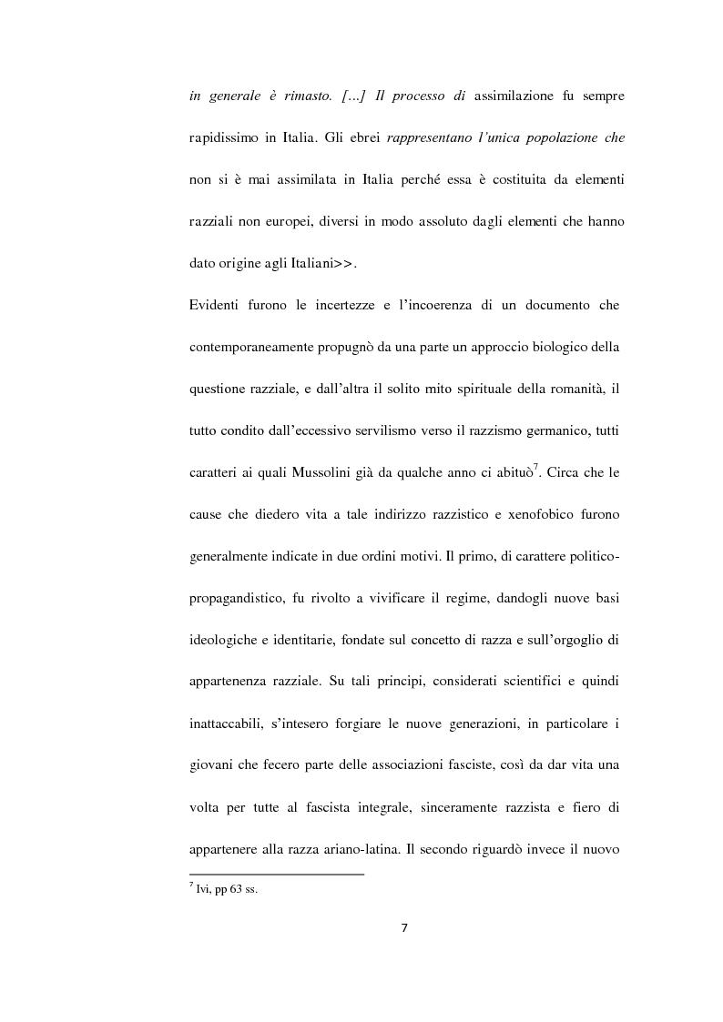 Anteprima della tesi: Il Questore Giovanni Palatucci e le leggi razziali, Pagina 5