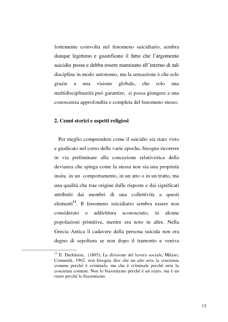Anteprima della tesi: L'incidente stradale come mezzo di suicidio. Tecniche investigative e profilo criminologico della vittima., Pagina 10