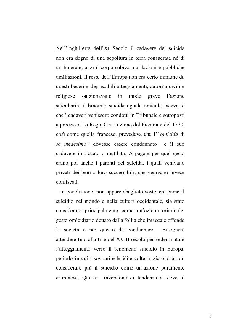 Anteprima della tesi: L'incidente stradale come mezzo di suicidio. Tecniche investigative e profilo criminologico della vittima., Pagina 12
