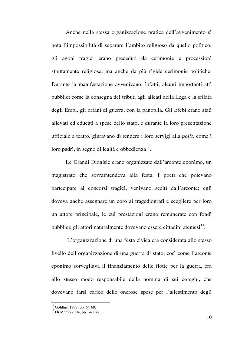Anteprima della tesi: La scelta tragica e la concezione della colpa: il mito di Edipo e l'Agamennone di Eschilo., Pagina 10