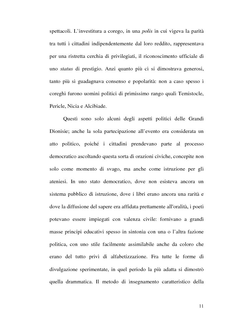 Anteprima della tesi: La scelta tragica e la concezione della colpa: il mito di Edipo e l'Agamennone di Eschilo., Pagina 11