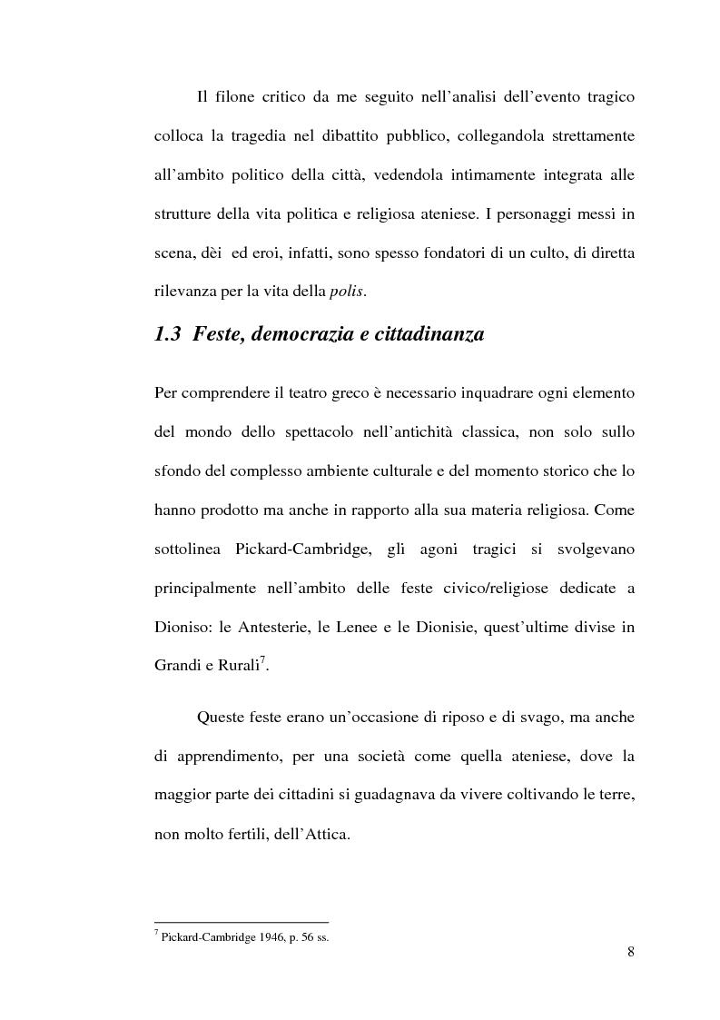 Anteprima della tesi: La scelta tragica e la concezione della colpa: il mito di Edipo e l'Agamennone di Eschilo., Pagina 8