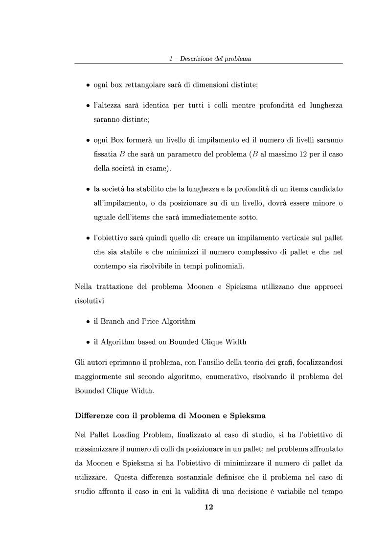 Anteprima della tesi: Modelli ed algoritmi per un problema di pallet loading, Pagina 10