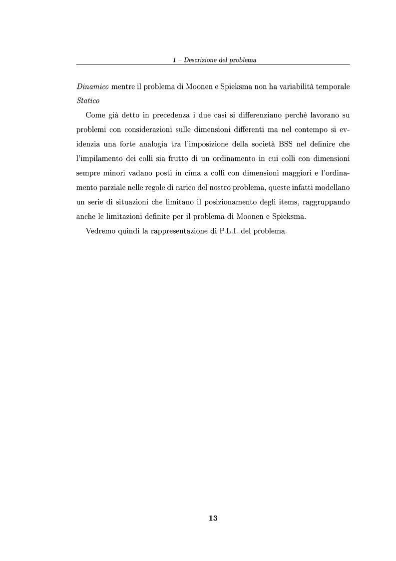 Anteprima della tesi: Modelli ed algoritmi per un problema di pallet loading, Pagina 11