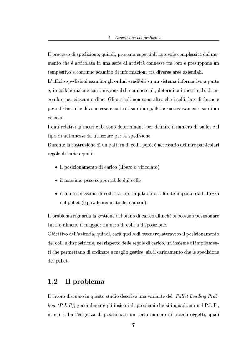 Anteprima della tesi: Modelli ed algoritmi per un problema di pallet loading, Pagina 5