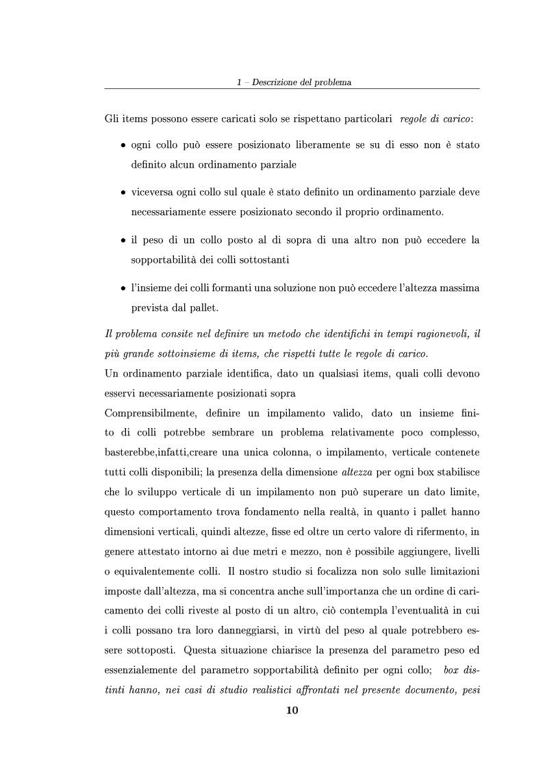 Anteprima della tesi: Modelli ed algoritmi per un problema di pallet loading, Pagina 8