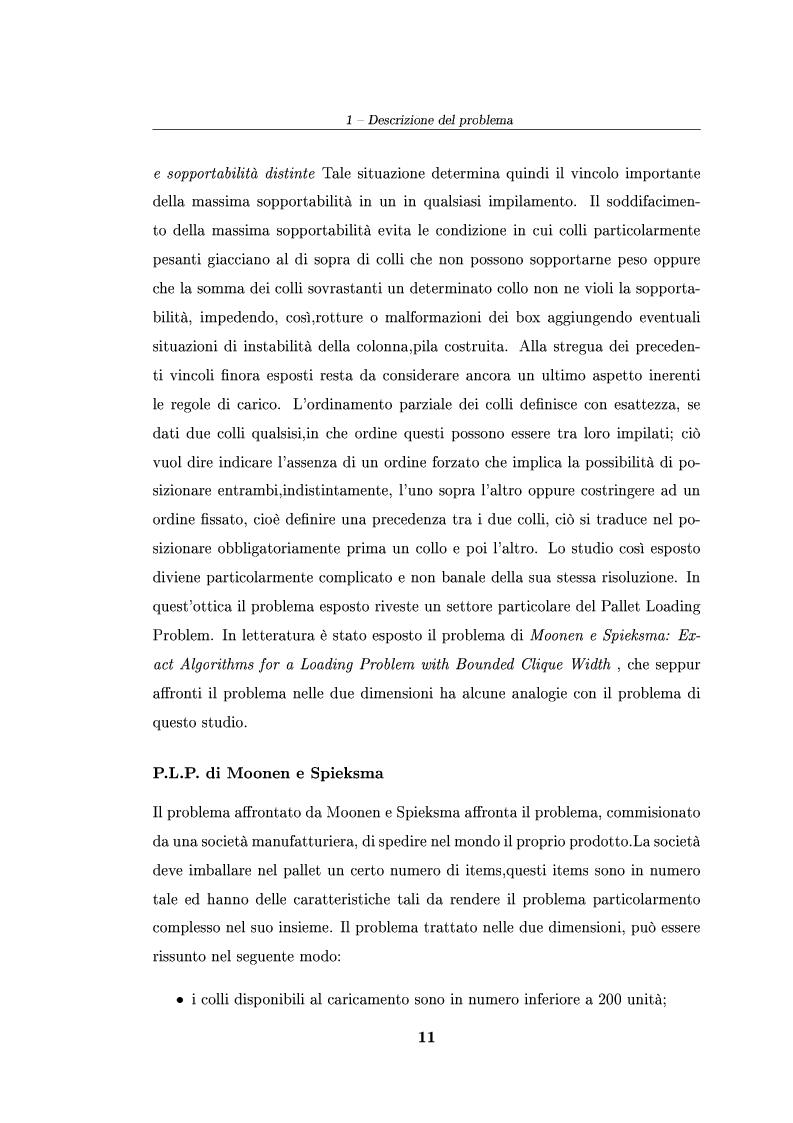 Anteprima della tesi: Modelli ed algoritmi per un problema di pallet loading, Pagina 9