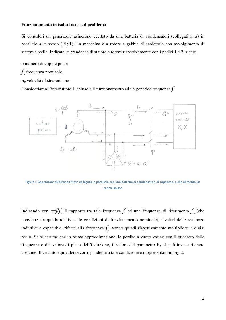 Anteprima della tesi: Funzionamento di un generatore asincrono in isola, Pagina 3