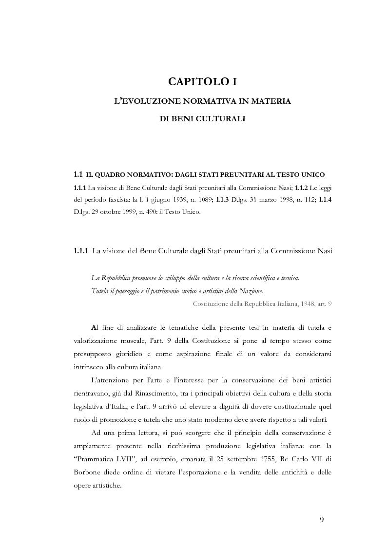 Anteprima della tesi: Il sistema museale in Italia e in Francia: un'analisi giuridica comparata, Pagina 2
