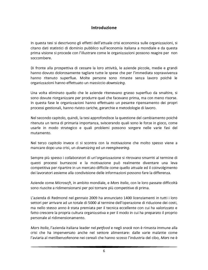 Anteprima della tesi: La motivazione come leva strategica dopo una riorganizzazione aziendale, Pagina 2
