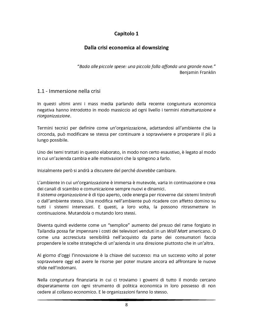 Anteprima della tesi: La motivazione come leva strategica dopo una riorganizzazione aziendale, Pagina 4