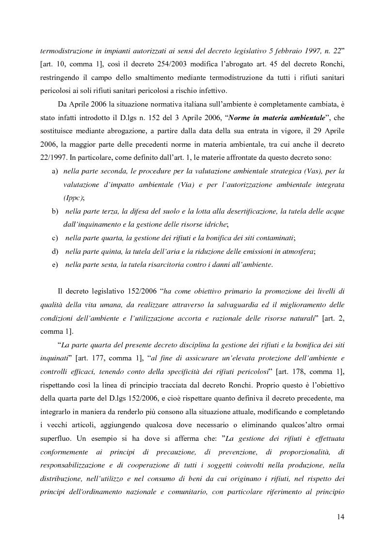 Anteprima della tesi: Rilevamento apparecchiature e consumi elettrici dell'impianto di incenerimento rifiuti sanitari di Roma, Pagina 9