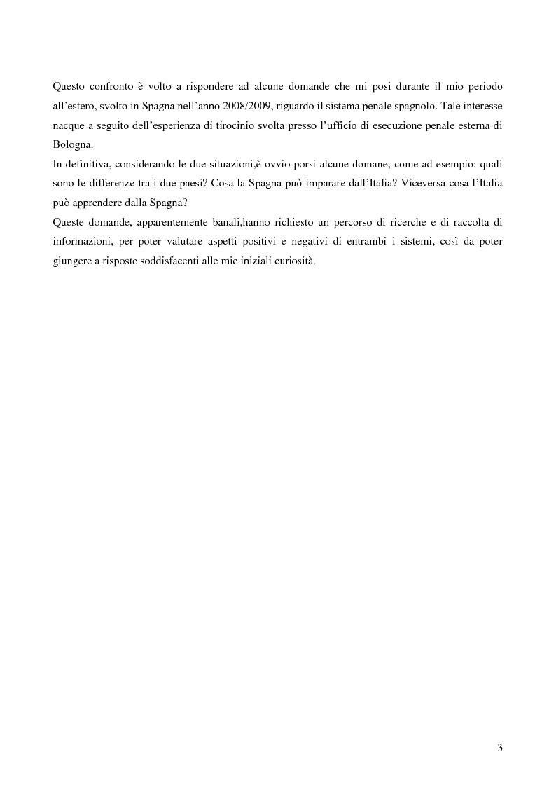 Anteprima della tesi: Servizio sociale e sistema penitenziario, tesi comparativa sulla rieducazione penitenziaria in Italia e in Spagna, Pagina 3