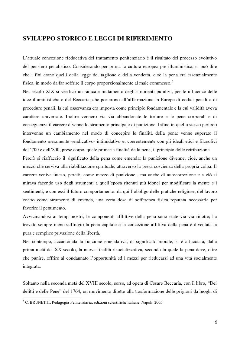 Anteprima della tesi: Servizio sociale e sistema penitenziario, tesi comparativa sulla rieducazione penitenziaria in Italia e in Spagna, Pagina 6