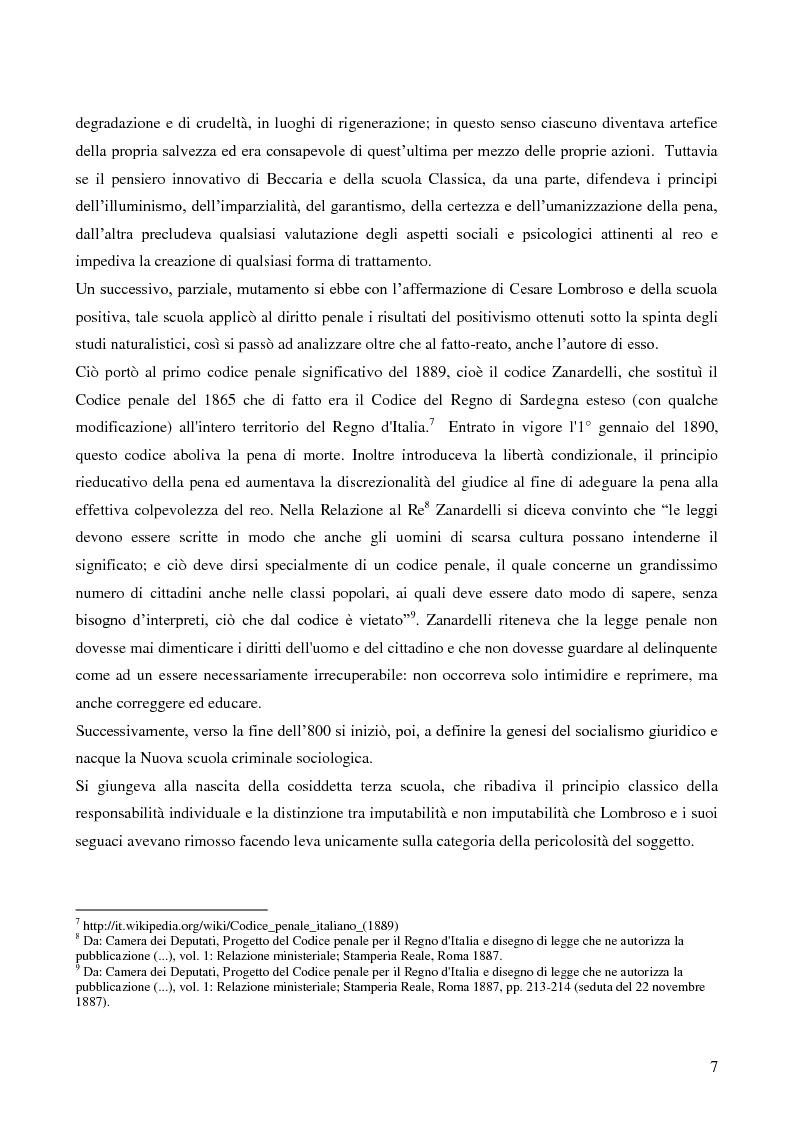 Anteprima della tesi: Servizio sociale e sistema penitenziario, tesi comparativa sulla rieducazione penitenziaria in Italia e in Spagna, Pagina 7
