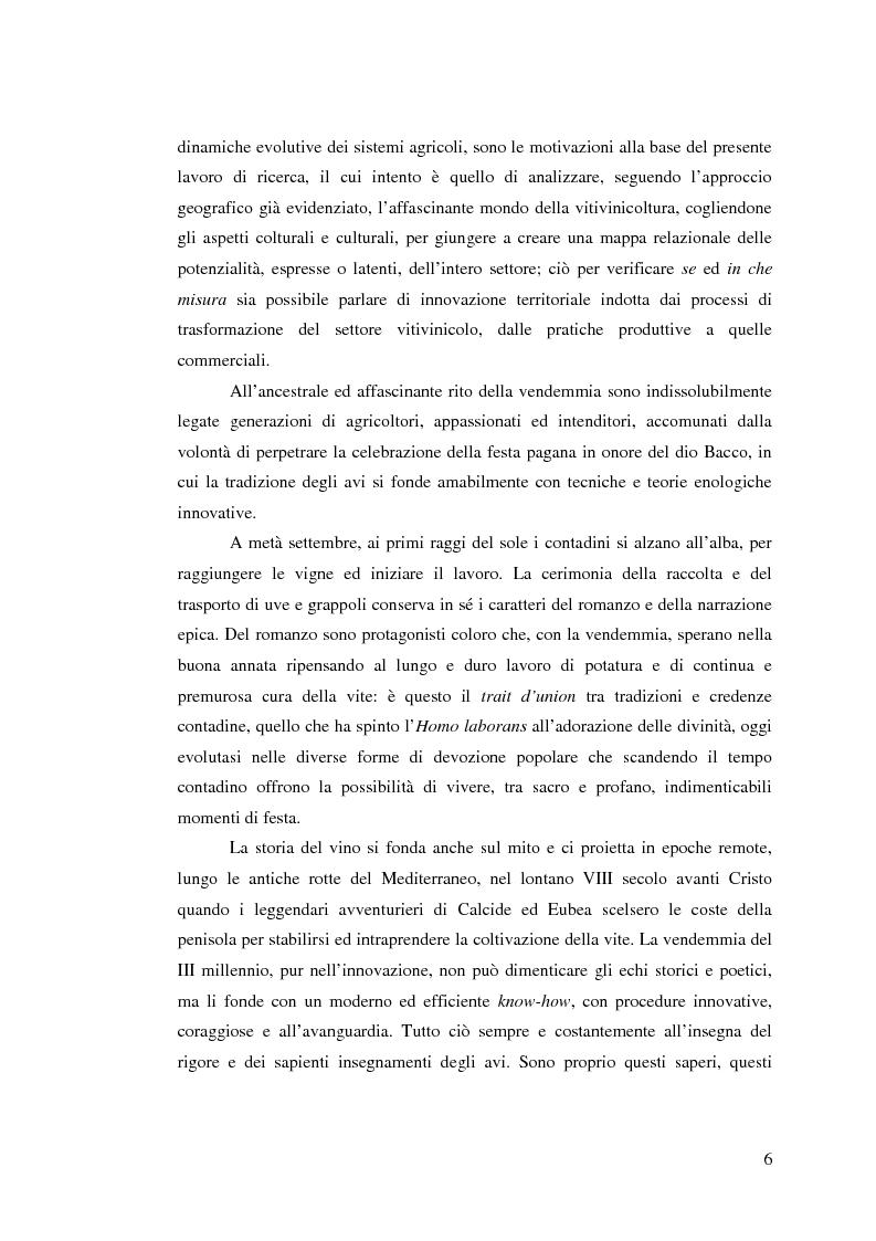 Anteprima della tesi: Vitivinicoltura e innovazione territoriale, Pagina 3