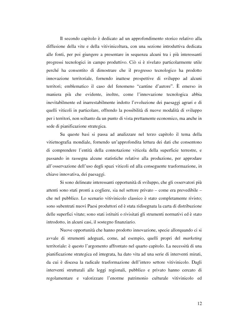 Anteprima della tesi: Vitivinicoltura e innovazione territoriale, Pagina 9