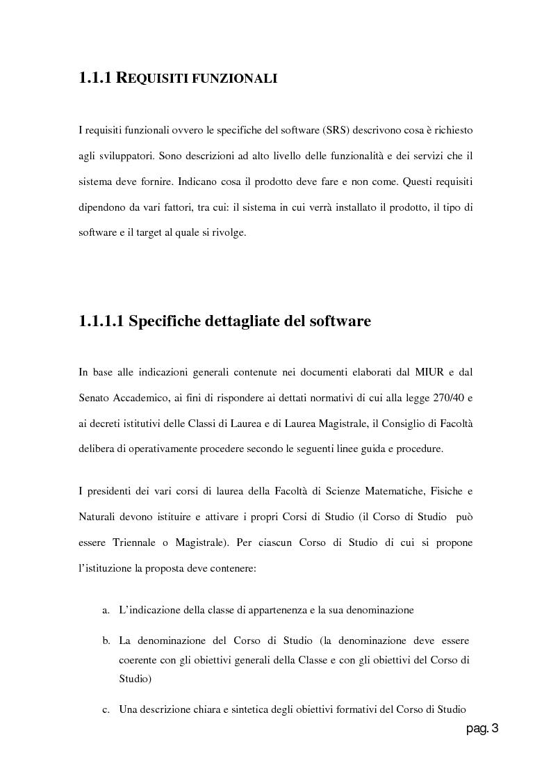 Anteprima della tesi: Web Application per la creazione e gestione di corsi di laurea in base al D.M. 270., Pagina 3
