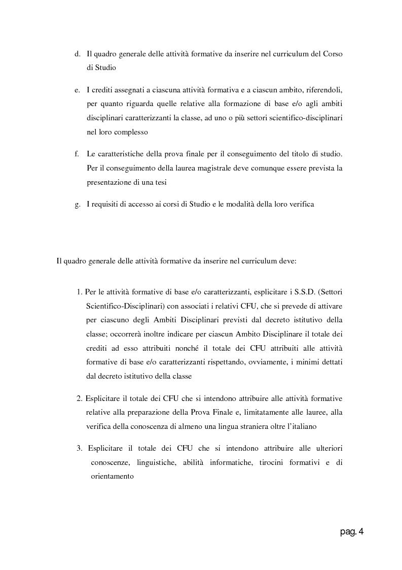 Anteprima della tesi: Web Application per la creazione e gestione di corsi di laurea in base al D.M. 270., Pagina 4