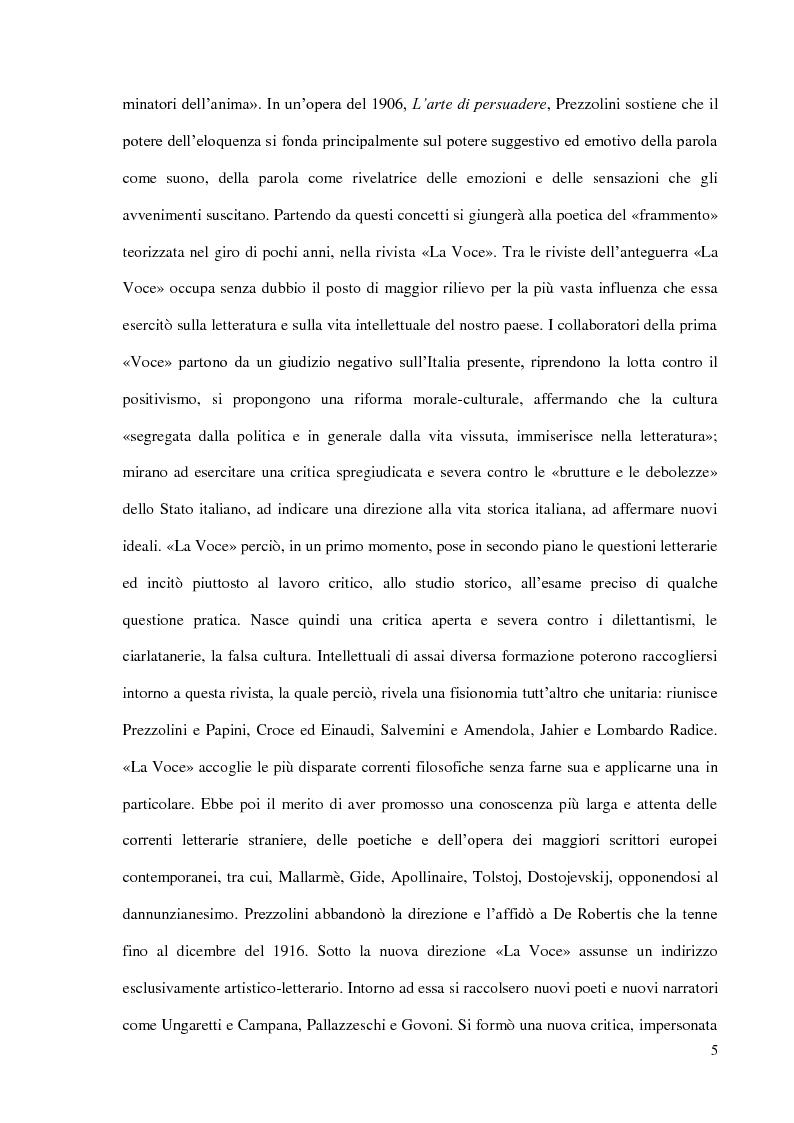 Anteprima della tesi: Il Podere di Federigo Tozzi, Pagina 5