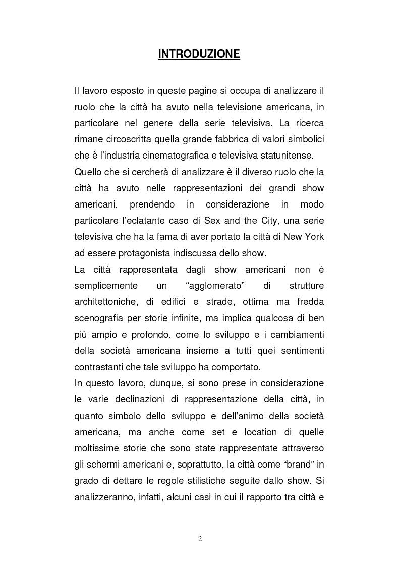 Anteprima della tesi: Il ruolo della città nella serie tv americana: New York in Sex and the City, Pagina 2