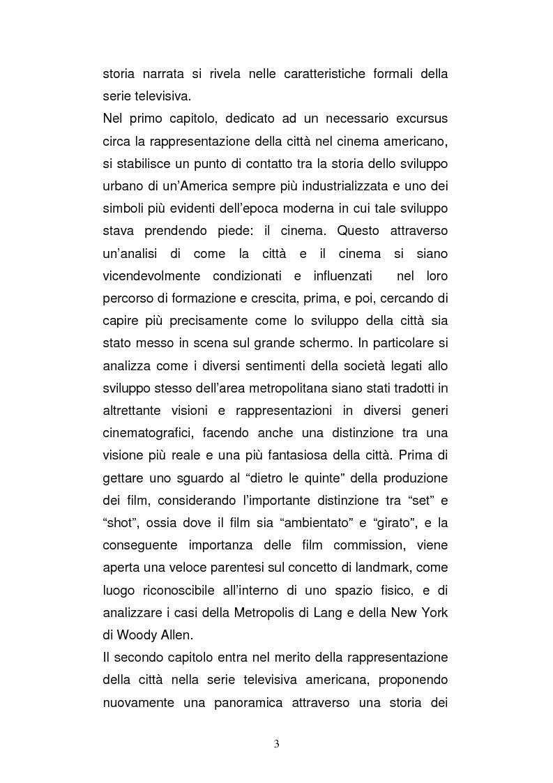 Anteprima della tesi: Il ruolo della città nella serie tv americana: New York in Sex and the City, Pagina 3
