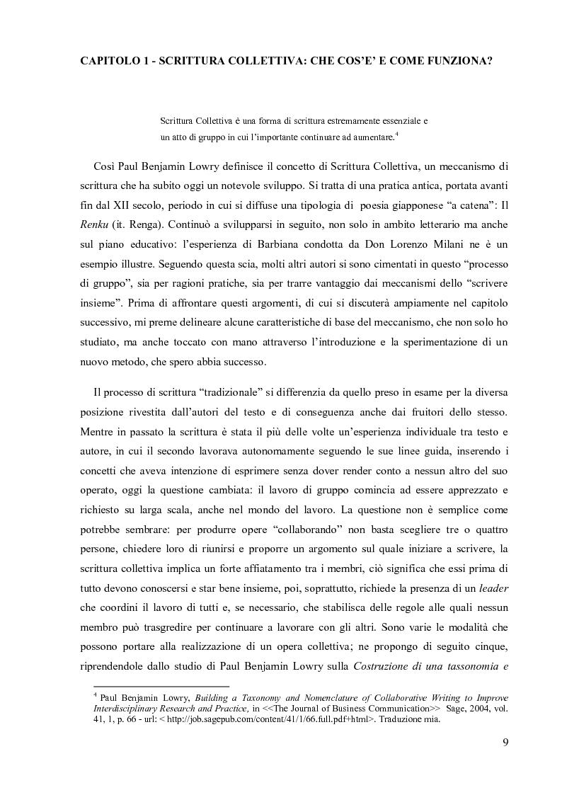 Anteprima della tesi: La Scrittura Collettiva dal manoscritto al web: storia e prospettive, Pagina 2