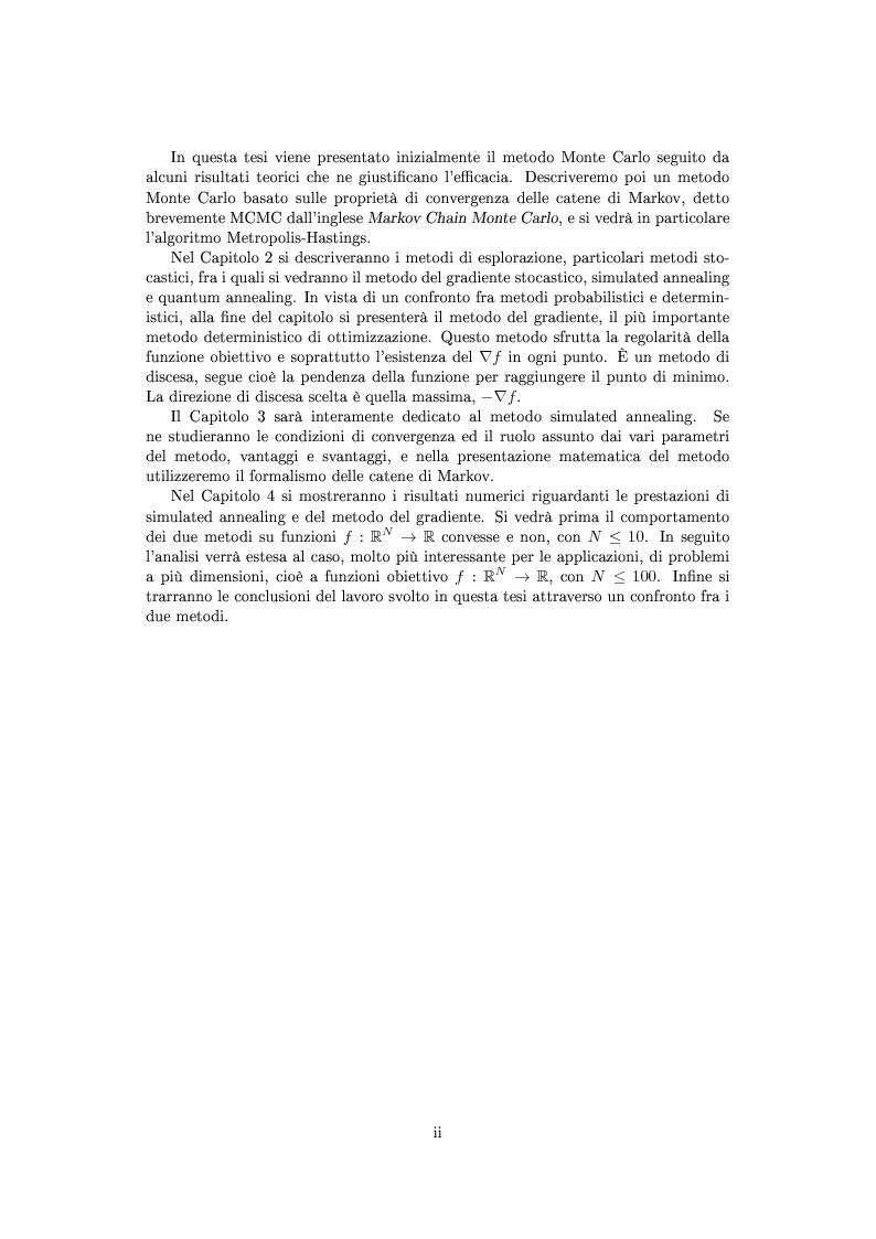 Anteprima della tesi: Metodi stocastici per la ricerca dei minimi, Pagina 3