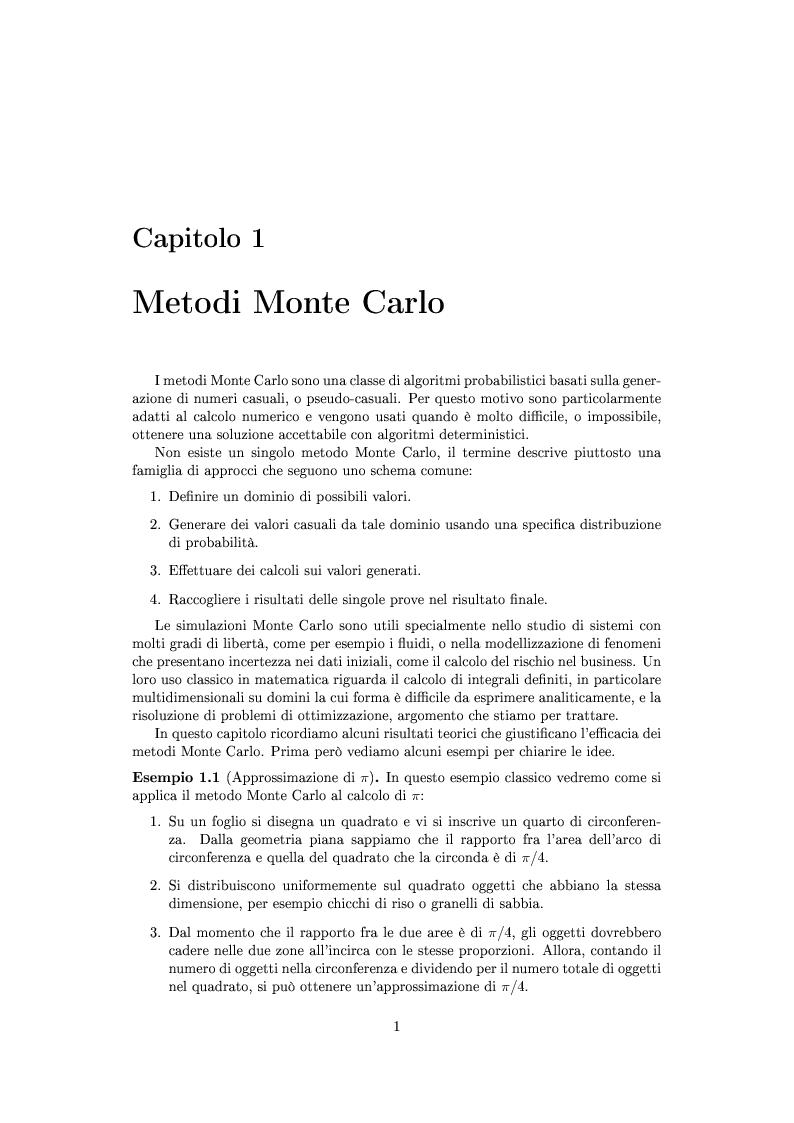 Anteprima della tesi: Metodi stocastici per la ricerca dei minimi, Pagina 4