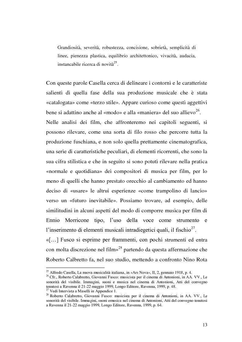 Anteprima della tesi: La musica per film e il cinema moderno. Giovanni Fusco tra Antonioni e Resnais, Pagina 10