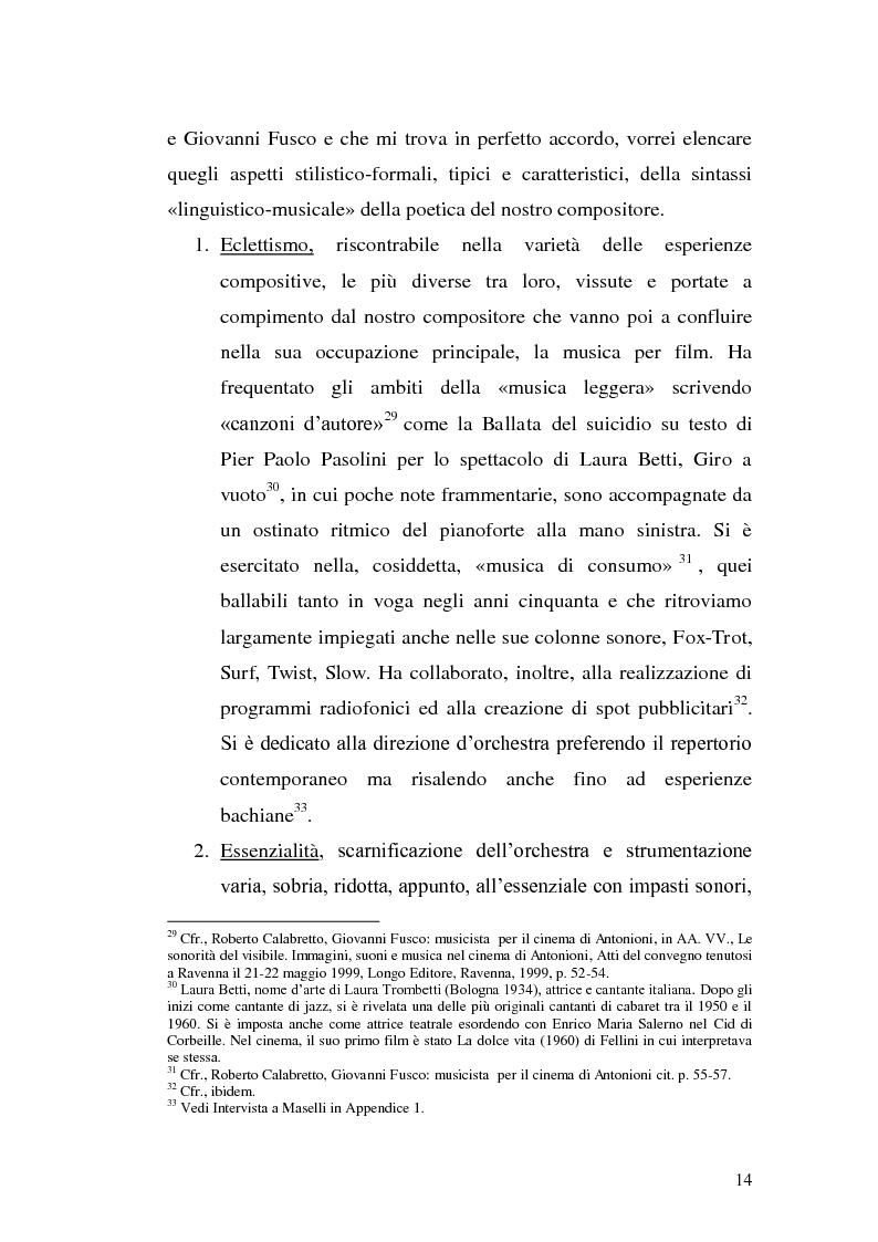 Anteprima della tesi: La musica per film e il cinema moderno. Giovanni Fusco tra Antonioni e Resnais, Pagina 11
