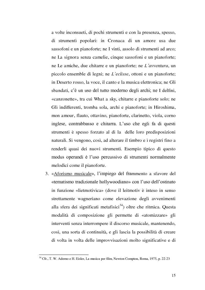 Anteprima della tesi: La musica per film e il cinema moderno. Giovanni Fusco tra Antonioni e Resnais, Pagina 12